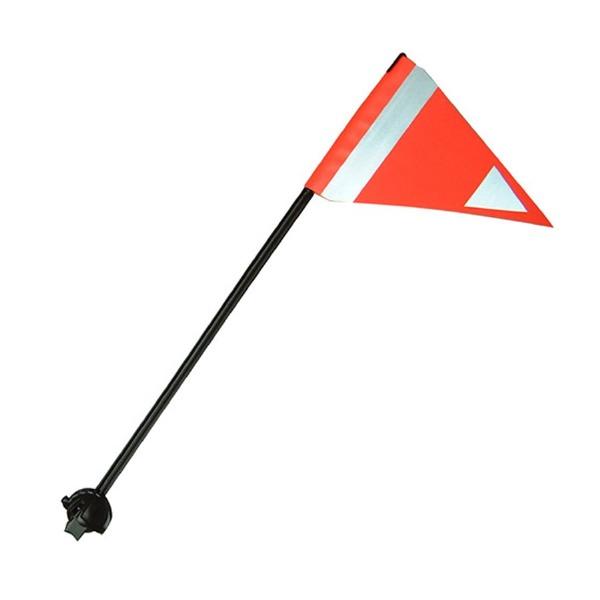 Lateral drapeau sécurité 57''