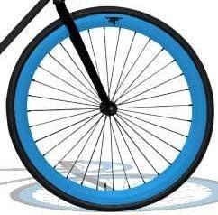 Fixie ens. roues bleu