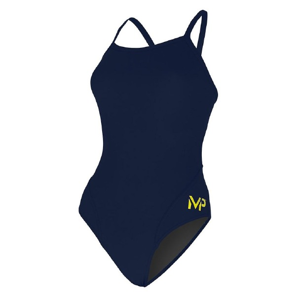 Mid Back Solid Navy Blue 30