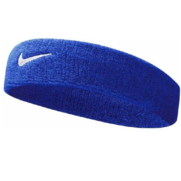 Swoosh Headband Bleu/Blanc