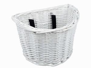 Basket Kids Wicker White Front