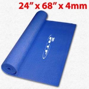 "Matelas Yoga 24""x68""x4mm bleu"
