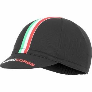 Rosso Corsa Cycling Cap Black