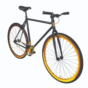 Fixie Matte Black/Gold 52cm