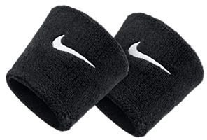 Swoosh Wristband Black/White
