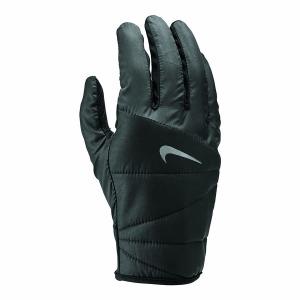 Quilted Run Gloves Bk SIlver X
