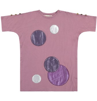 Circle Patch Dress Lavender 7