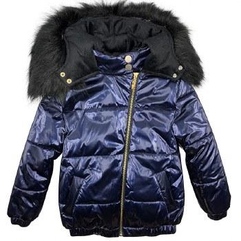 Winter coat W/ Fur Hood Blue 4