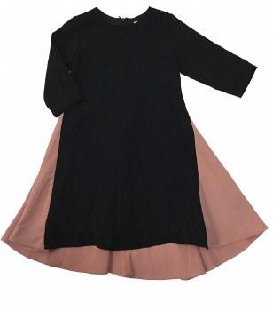 Colorblock Swing Dress Blush/B