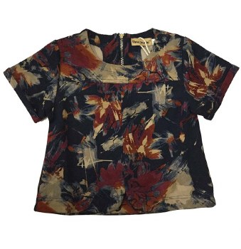 Abstract Floral Top Multi 10
