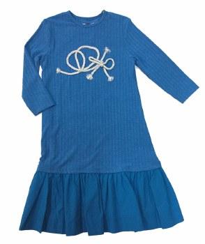 Ribbed Rope Dress Aqua 2