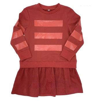 Dress W/ Suede Bottom Coral 8