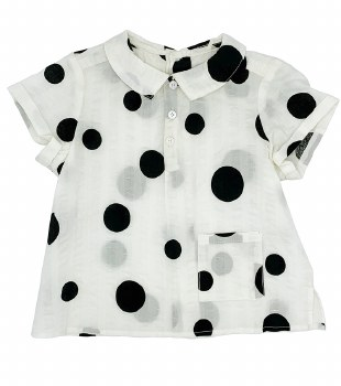 Circles Shirt Black/White 24M
