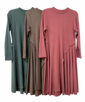 Ribbed Dress Stone 7