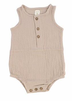 Analogie Gauze Romper Taupe 6M