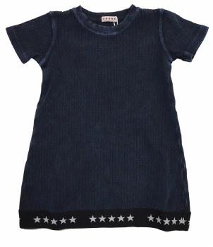 Ribbed Denim Dress Blue 2