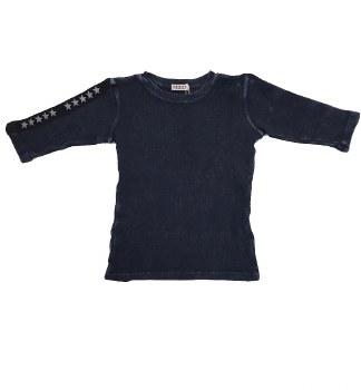 Ribbed Denim Tshirt Blue 14