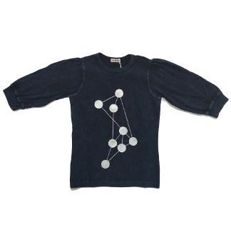 Ribbed Denim Dot Tshirt Dark 8