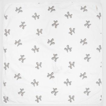Balloon Shapes Blanket White/G