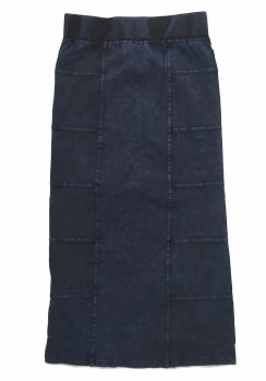 Long Denim Skirt Dark 8