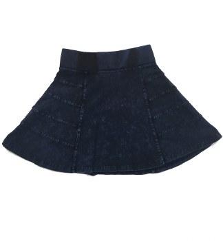 Panelled Denim Skirt Dark 5
