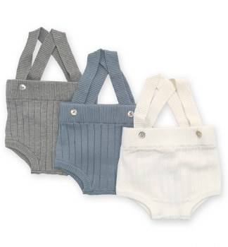 Rib Knit Overall Grey 3M