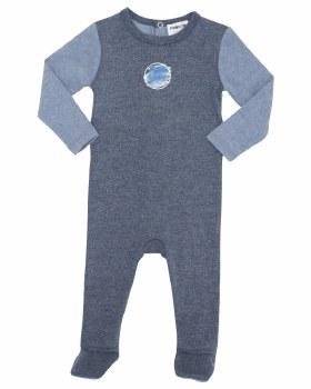 2tone Stretchie Blue 12M