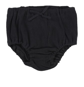 Lil Legs Rib Bloomers Black 18