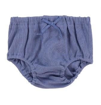 Lil Legs Rib Bloomers Blue 12M