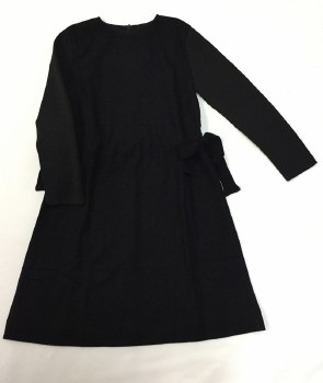 Dress W/ Sidetie Black 8
