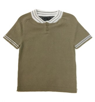 S/S Sweater W/ Stripe Trim San