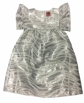 Metallic Dress Silver 3
