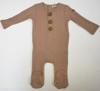 Ribbed Stretchie W/ Buttons Bl