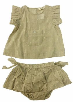 Baby Set W/ Gold Pinstripes Be
