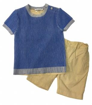 Boys Shorts Set Blue/Sand 3