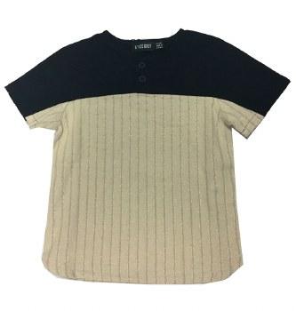 Linen S/S Shirt Black/Beige 8