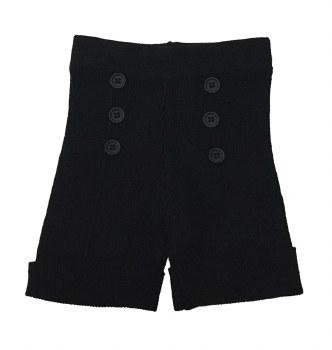 Ribbed Knit Shorts Black 12M