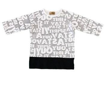 Alphabet Tshirt Grey/White 7