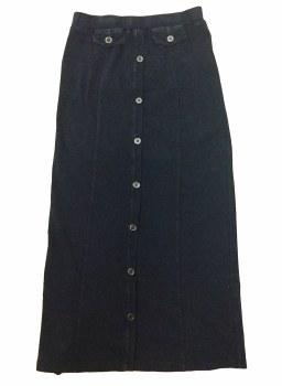 Long Skirt W/ Buttons Dark Den
