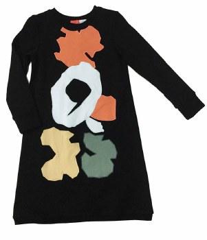 Abstract Shape Dress Black 4