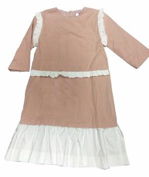 Dress w/ Ruffle Trim Pink/Whit