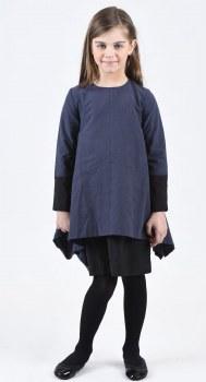 Dress W/ Overlay Blue/Black 4