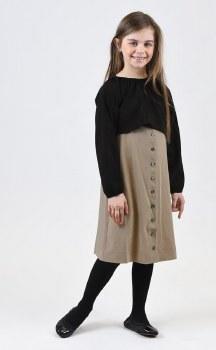 2pc Dress Black/Beige 7