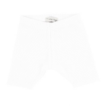 Lil Legs Ribbed Shorts White 1