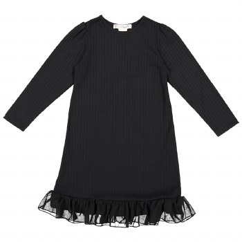 Rib Nightgown Black 14