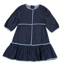 Denim Dress w/ Trim Dark 14