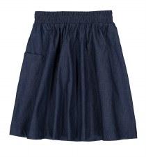 Denim Pocket Skirt Dark 8