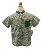 Boys S/S Printed Shirt Olive 5