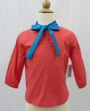 Blouse W/ Tie Coral 6