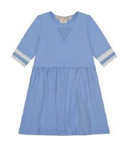 Dress W/ Striped Trim Blue 12